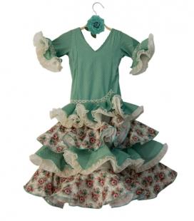 Flamenco Costume for Girls, Size 4