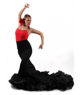 Long tail flamenco skirt