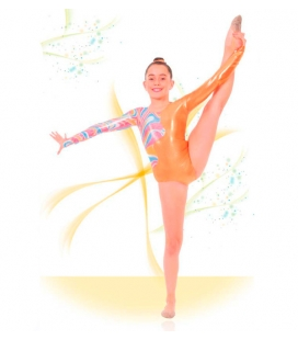 Combined leotard with sleeves