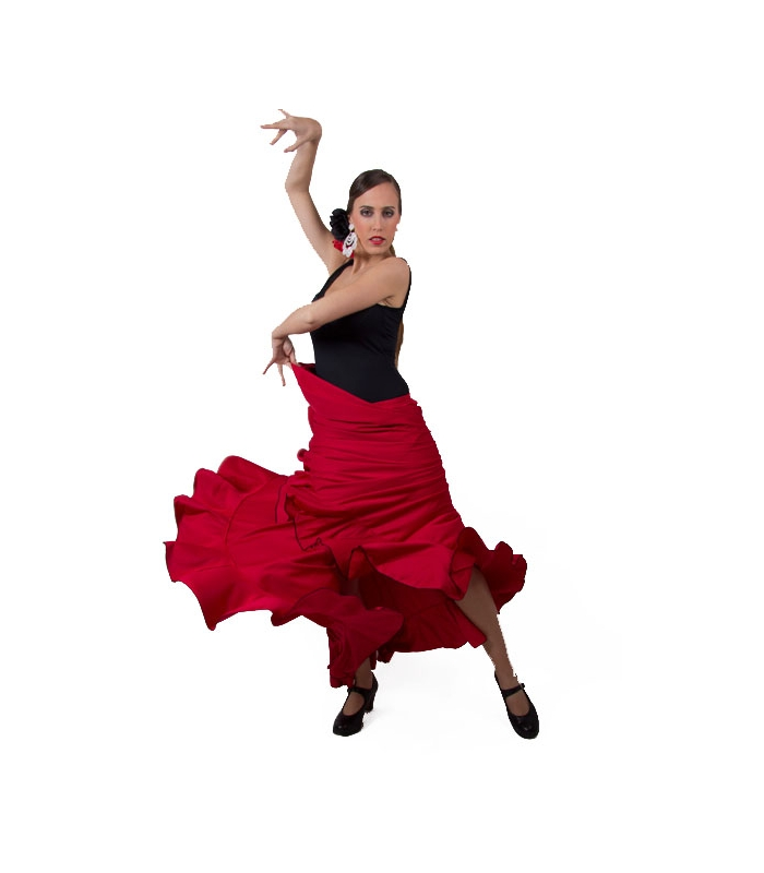 Christmas dresses for girls - Flamenco Practice Skirt With A Ruffle
