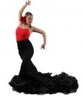 Long-Tailed Flamenco Skirt, High Waist