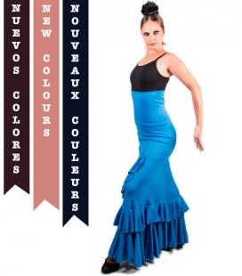 Flamenco Skirt, Model Salon, High Waist