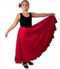 Practice Flamenco Skirt for Girls, Model MC2