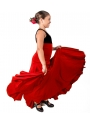 Girls Flamenco Skirt High Waist 8 Godet