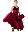 Girls Flamenco Skirt High Waist 8 Godet