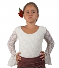 Flamenco Lace Top For Girls