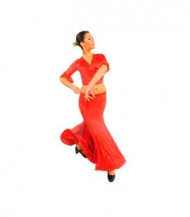 Flamenco skirt E-3953 for girls