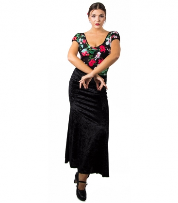 Velvet flamenco skirt