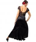 Flamenco skirt in velvet