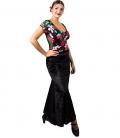 velvet women flamenco skirt