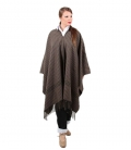 Poncho wool short suit