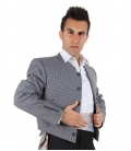 Flamenco jacket for men which features grey squares