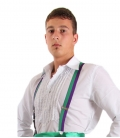 Elastic braces for men, various colours