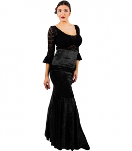 Velvet Flamenco Skirts For Women