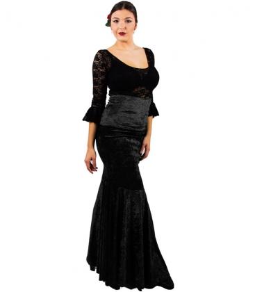 Velvet Flamenco Skirts For Women