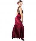 Red Velvet Flamenco Skirt