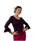 Flamenco dance top with ruching
