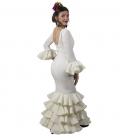 flamenco dress in beige