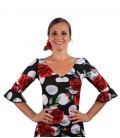 Flamenco Dance Top with roses