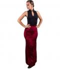 velvet skirt flamenco