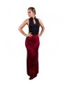 Woman Flamenco Skirt Velvet