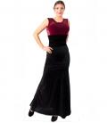 Woman Flamenco Skirt Velvet