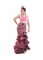 flamenca skirt red with stripes