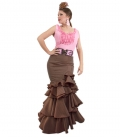 flamenca skirt in brown