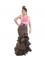 flamenca skirt in brown