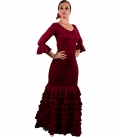Flamenco Dance Set - Sol skirt and top Bordeux