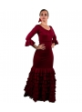 Flamenco Dance Set - Sol skirt and top Bordeux
