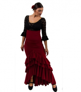 Flamenco skirt for woman - Model Taconeo - NEW bordeaux xs
