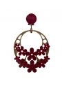 flamenco earring with flowers