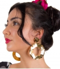 Stamping Rounded Spanish Earrings