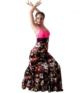 Flamenco Dance Skirt - Mod Carmen - Flower Printed