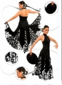 Flamenco costume plain and crepe fabrics
