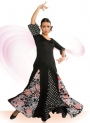 Flamenco costume with crepe stitch