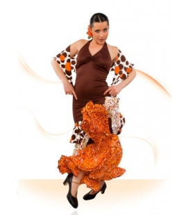 Flamenco Dancing costume E-4454 (knitting-crape)