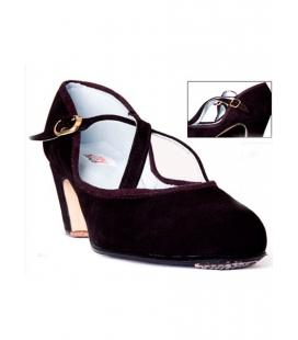 Buckskin Flamenco Shoes, Cross Strips
