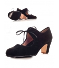 Shoes for Flamenco Dancing, suede and lazes