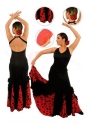 Flamenco dancing skirt model EF077