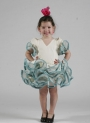 Girls Flamenco Dress Carmin