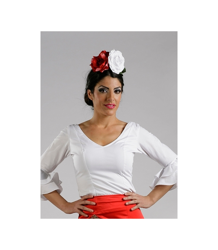 f62dc9cef36a3 Flamenca Blouse 2016 new season smooth white