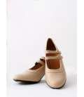 Semi-Professional Beige Leather Shoes