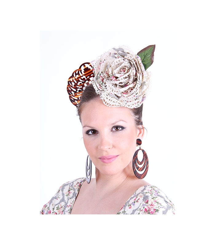 Flamenco flower for your flamenco dress with lace in ...