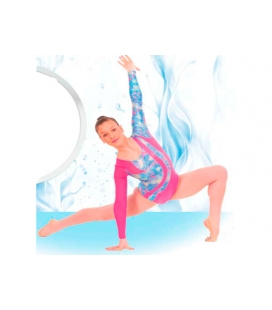 Gymnastic leotard with sleeves