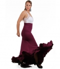 Flamenco skirt, Model EF258 (stitch-crepe)