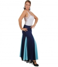 blue flamenco skirt