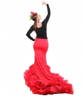 Long tail flamenco skirt
