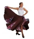 Flamenco Patterned Skirt, Model EF-007